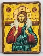 Добрый пастырь, икона под старину, сургуч (17 Х 23)