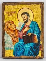 Апостол Марк, икона под старину, сургуч (17 Х 23)