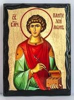Пантелеймон, икона синайская, 17 Х 23