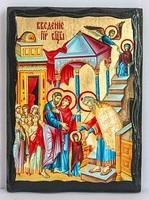 Введение во Храм Пр.Б., икона синайская, 17 Х 23