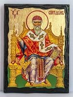 Спиридон Тримифунтский (трон), икона синайская, 17 Х 23