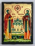 Петр и Феврония, икона синайская, 17 Х 23