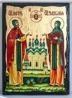 Петр и Феврония, икона синайская, 21x28