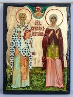 Киприан и Устиния, икона синайская, 21x28