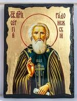 Сергий Радонежский (пояс), икона синайская, 21x28