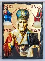 Николай Чудотворец в митре, икона синайская, 21x28