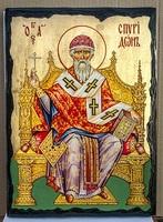 Спиридон Тримифунтский (трон), икона синайская, 30x42