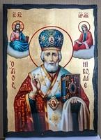 Николай Чудотворец в митре, икона синайская, 30x42