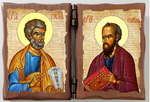 Петр и Павел. Складень под старину 8Х10