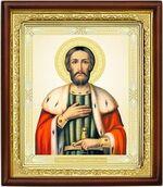 Александр Невский, икона в деревянной рамке (Д-18пс-68)