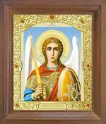 Арх. Михаил (пояс). Икона в деревянной рамке с окладом (Д-26псо-69)