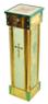 Кружка для сбора пожертвований, напольная квадратная, латунь, дерево, ДСП, цвет зеленый