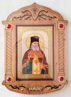 Лука Крымский. Икона настольная, резная, фигурная, JERUSALEM