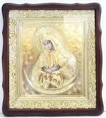 Остробрамская Б.М.. Храмовая икона в фигурном киоте, в ризе, с багетом, 38 Х 44