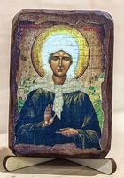 Матрона Московская, икона под старину, сургуч (8 Х 10)