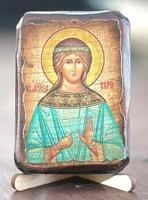 Вера, Св.Муч., икона под старину, сургуч (8 Х 10)