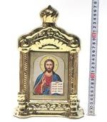 Спаситель, керамика, икона купол большая, цвет золото (СА).