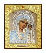 Казанская Б.М. Икона в окладе малая (Д-22-07)