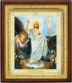 Воскресение Христово, икона в деревянной рамке (Д-18пс-71)