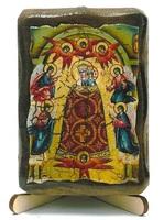 Прибавление Ума Б.М., икона под старину, на дереве (8x10)