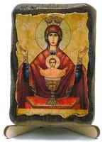 Неупиваемая Чаша Б.М., икона под старину, на дереве (8x10)