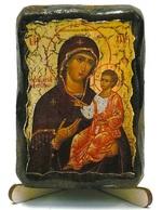 Иверская Б.М., икона под старину, на дереве (8x10)