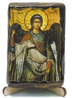 Архистратиг Михаил, икона под старину, на дереве (8х10)