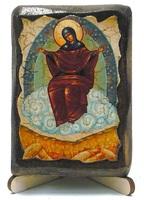 Спорительница Хлебов Б.М., икона под старину, на дереве (8x10)