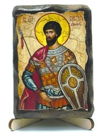 Виктор, Св.Муч., икона под старину, на дереве (8x10)