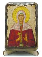 Христина, Св.Муч., икона под старину, на дереве (8x10)