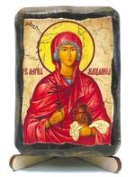 Мария Магдалина, икона под старину, на дереве (8x10)