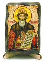 Владимир, Св.Князь, икона под старину, на дереве (8x10)