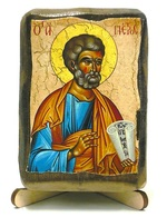 Апостол Петр, икона под старину, на дереве (8x10)