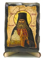 Арсений, архимандрит Святогорский, икона под старину, на дереве (8x10)