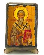 Геннадий, Архиепископ Новгородский, икона под старину, на дереве (8x10)