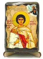 Виталий Св.Мч., икона под старину, на дереве (8x10)