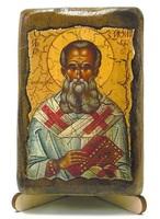 Афанасий Великий, икона под старину, на дереве (8x10)