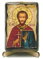 Валерий, Св.Муч., икона под старину, на дереве (8x10)
