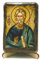 Андрей Первозванный, икона под старину, на дереве (8x10)