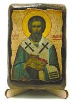 Валентин, Епископ Интерамский, икона под старину, на дереве (8x10)