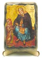 Герасим Иорданский, икона под старину, на дереве (8x10)