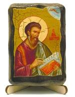 Апостол Матфей, икона под старину, на дереве (8x10)