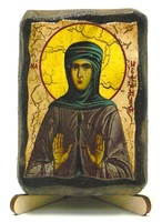 Мелания Римляныня, Преподобная, икона под старину, на дереве (8x10)