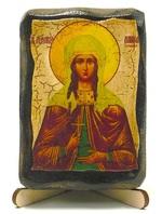 Лариса Св. Муч., икона под старину, на дереве (8x10)