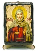 София, Св. Мч., икона под старину, на дереве (8x10)