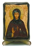 Елисавета Константинопольская, икона под старину, на дереве (8x10)