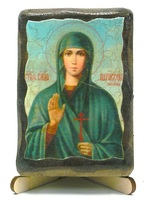 Параскева Пятница, Св. Вмч., икона под старину, на дереве (8x10)