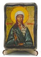 Иулия Анкирская, Св.Мч., икона под старину, на дереве (8x10)