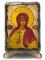 Алла, Св.Мч., икона под старину, на дереве (8x10)