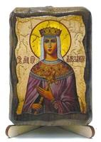 Александра, Св.Мч., икона под старину, на дереве (8x10)
